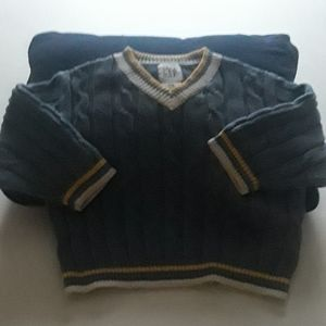 Baby Gap Beautiful Blue Cable Sweater 12-18 Mo